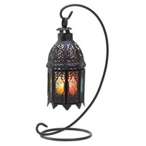 10 BLACK Multicolor Candle LANTERN Wedding CENTERPIECES - $175.62