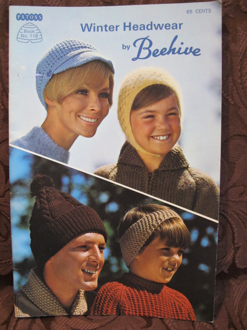 Vintage Patons Knitting Crochet Crocheting Patterns Hats Caps Toques etc FAMILY