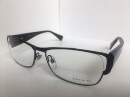 New ALAIN MIKLI AL0869 AL 0869 0001 59mm Large Rectangular Eyeglasses Frame  - $175.99