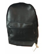 Victorias Secret PINK Campus Backpack Faux Leather Black New 2017 Travel... - $79.46