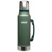 Classic Vacuum Thermos Bottle Coffee Green Stanley Hammertone 1.1 Qt Sta... - $26.08