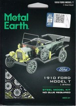 Fascinations Metal Earth 1910 Ford Model T Laser Cut 3D Model T MMS196 - $9.95