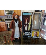 "VINTAGE 1977 KENNER STAR WARS 12"" BEN OBI WAN KENOBI LARGE SIZE ACTION F... - $383.92"
