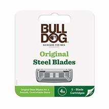Bulldog Mens Skincare and Grooming Original Razor Blades Refills for Men, 4 Coun image 1