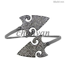 Vintage Look 5.20 Ct Rose Cut Diamond Sterling Silver Pave Statement Bra... - $380.00