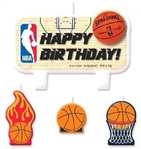 Sports And Tailgating NBA Party Birthday Cake Candle, 4 Pieces, Made Fr... - $18.53