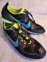 Nike Rival MD Men's Black Sport Track & Field Running Spikes Soccer Shoe... - $23.74