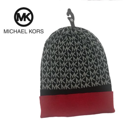 75fdef611a3 Michael Kors Winter Beanie Hat NWT MK Logo and 50 similar items. 12