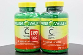 Twin Pack Spring Valley Vitamin C with Rose Hips, 500 Tablets, Expires 0... - $18.55