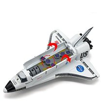 Ailejia Space Shuttle Scale Model Kit Orbiter Ship Diecast Space Shuttle Toy Col image 3