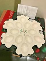 Pfaltzgraff Winterberry Snowflake Egg Plate NIB - $30.00