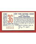 1962  NEW YORK  METS   /   L. A.  DODGERS    GAME  36   TICKET STUB    !! - $149.99