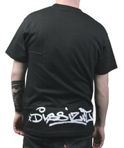 Dissizit Mens Black Sexy Women Licking Big D Spray Paint Can T-Shirt NWT image 2