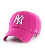 NY YANKEES  ADULT 47 BRAND ORCHID CLEAN UP/DAD HAT NEW & LICENSED - $19.30