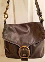 COACH 11419 Bleecker Black Leather Flap Brass HRDW, HOBO Handbag Very Go... - $50.15