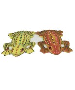Set of 2 Plaster Wall Hang Frogs - $38.61