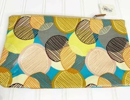 Fossil Key Per Zippered Cosmetic Travel Pouch Bag Vinyl Canvas Large NWT - $24.14