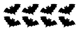 Halloween Bats Window Decal Sticker Sheet Set party cups tumblers FREE S... - $46,98 MXN+