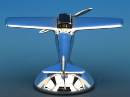 Art Deco Streamline Dollin Diecasters Co. Nickel Plated Airplane Lighter  image 7