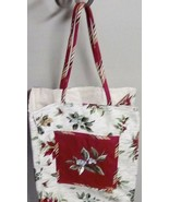 NEW 2006 Longaberger Holiday Christmas Gift Bag Lunch Tote Purse Holiday  - $9.40