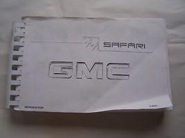 1999 GMC  SAFARI  OWNERS MANUAL PARTS SERVICE REPRINT - $9.99