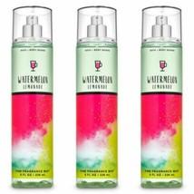 Bath & Body Works Watermelon Lemonade Fine Fragrance Mist 3 Pc. Set New - $28.04