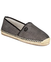 Michael Kors MK Women's Kendrick Slip On Pixie Fine Espadrille Flats Shoes Black