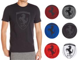 Puma Ferrari SF Men's Premium Cotton Graphic Big Shield Tee T-Shirt 571207