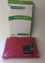 NEW Newstyle Samsung Tablet Case Bluetooth Keyboard Red NIOB - $12.38
