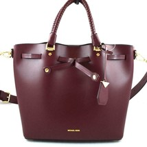 AUTHENTIC NEW NWT MICHAEL KORS $398 LEATHER BLAKELY OXBLOOD RED MED BUCK... - $138.00