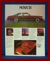 1975 Chevrolet NOVA Color Sales Brochure - LN + SS Original New Old stock - $9.50