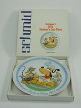Schmid Walt Disney's 1977 Mother's Day Plate w/ Box Pluto & Kittens - $16.14