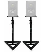 2 Rockville Adjustable Studio Monitor Speaker Stands For ADAM Audio T5V ... - $99.99