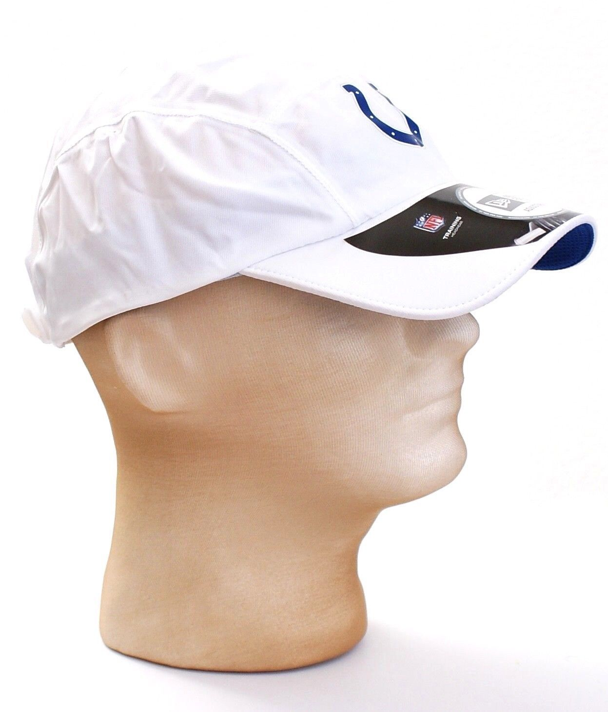 New Era NFL Indianapolis Colts White Training Running Cap Hat Adult One Size NWT