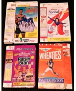 KELLOGG'S & GENERAL MILLS CEREAL BOX LOT 1992 Team USA Olympics & Walter... - $9.95