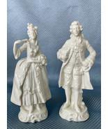 Vintage Capodimonte Porcelain Victorian Couple Man Woman Figurines, N Cr... - $83.22