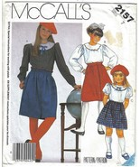 McCall's Pattern 2157 Girls' Blouse and Skirt Size 7 Uncut - $6.99