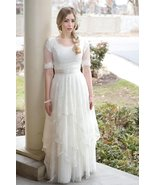 2019 Modest Country Style Bohemian  Vintage Half Sleeves A-line Wedding ... - $295.00