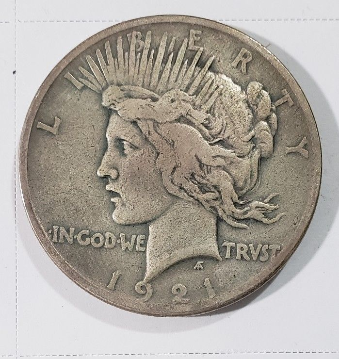 1921 Peace Silver Dollar Coin -  Lot # E 281