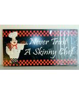 Skinny Chef French Italian New Bistro Wall Decor - $18.00