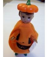 Madame Alexander Halloween Pumpkin Costume Action Figure Doll #5 Tag 2003 - $3.99