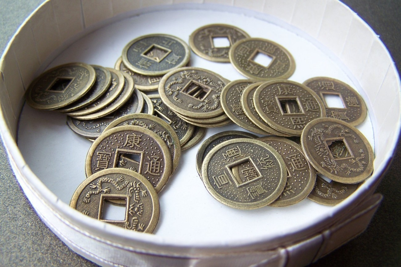 50 pcs of Antiqued Bronze Traditional Chinese Qing Dynasty Coin Charms 19mm A5