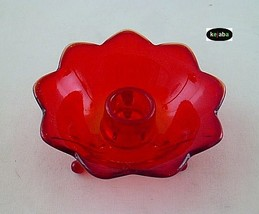 Fenton Ruby 848 Candleholder rounded Vintage 1930s - $9.95