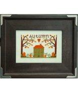 Autumn Leaves & Pumpkins cross stitch chart Tiny Modernist Inc - $7.20