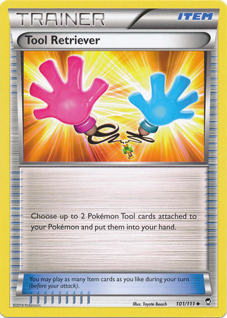 Tool Retriever 101/111 Uncommon Trainer Pokemon XY Furious Fists  image 3