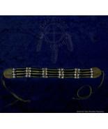 Black Horn Hairpipe w/ Black & White Bead Choker - $16.04