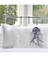 ONe Navy Blue Jellyfish pillowcase pillow case ... - $15.98