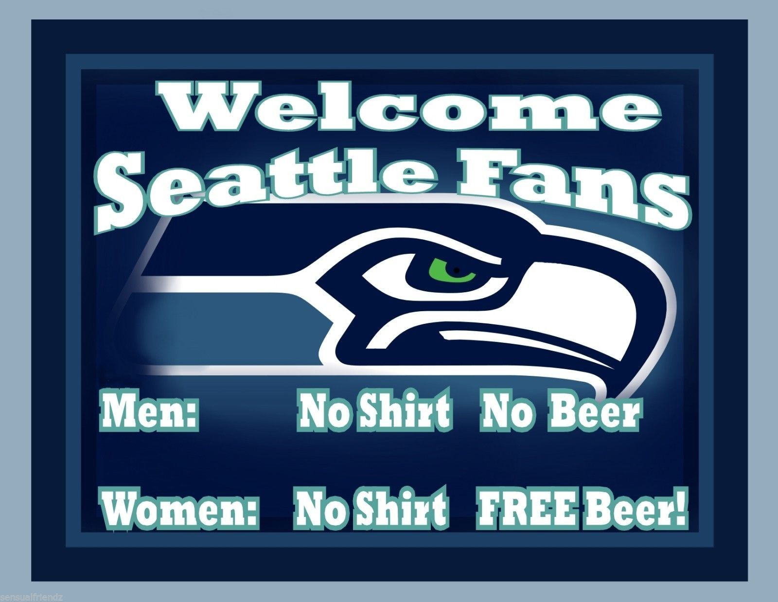 Man Cave Signs Nfl : Seattle seahawks man cave beer sign poster nfl football