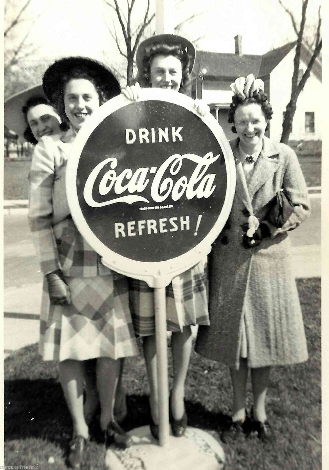 Al 1939 Coca Cola Gas Station Advertising Sign Vintage photo print Sprott