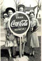 Girl's by Coca Cola Advertising Sign Vintage photo print Hartford, Wisco... - $7.47